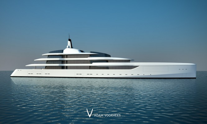 New 92m mega yacht Project Lumen by Adam Voorhees - Profile