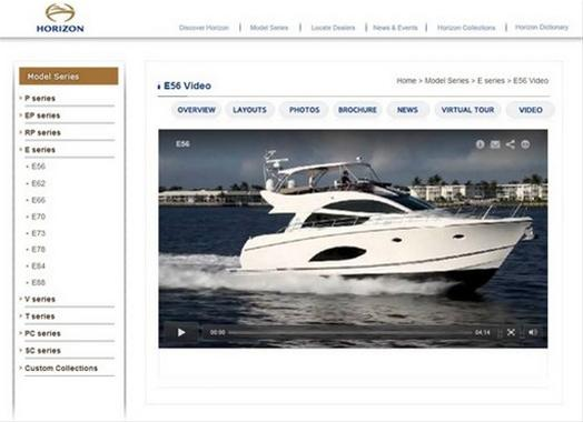New video tour of Horizon E56 Yacht