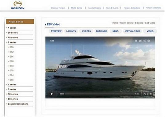 horizon releases new video tours of its e88 e56 and pc60 yachts yacht charter superyacht news. Black Bedroom Furniture Sets. Home Design Ideas