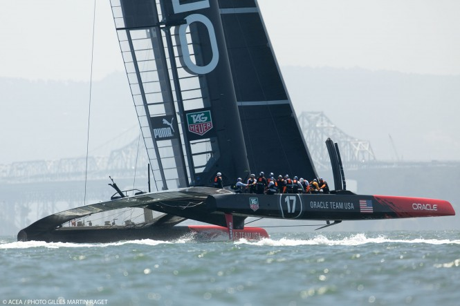 ORACLE Team USA training again
