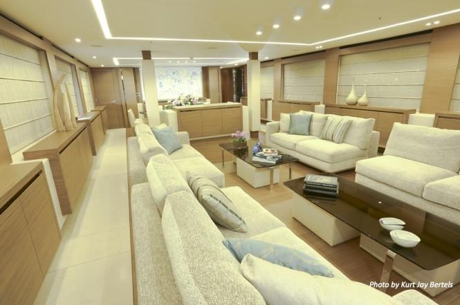 OURANOS yacht - Salon - Photo by Kurt Jay Bertels
