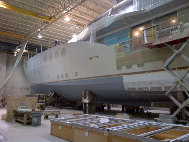 PJ210 hull number 1 superyacht Lady M built by Palmer Johnson with design by Nuvolari Lenard - Image courtesy of DuraShield Marine