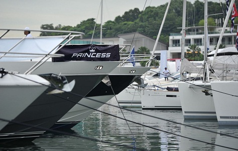 Princess Yachts at the Singapore Yacht Show 2013 - Photo credit to MCS Lifestyle Photography