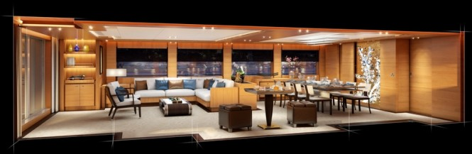 Project BVB44M Yacht - Main Salon