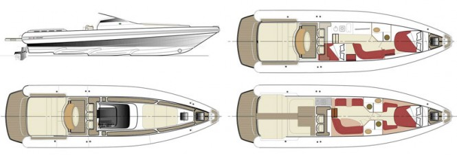 Project MX-16 Coupe yacht tender - Layout
