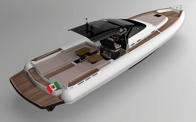 Project MX-16 Coupe yacht tender - aft view