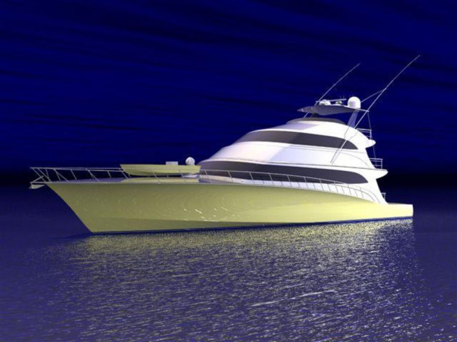 Rendering of the 32m Jim Smith superyacht Marlena (hull no. 29)