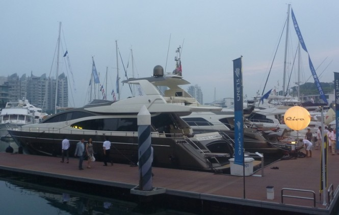 Riva 75' Venere Super Yacht on display at the Singapore Yacht Show 2013