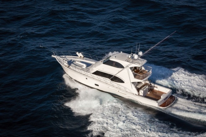 Rivieras flagship 75 Enclosed Flybridge yacht The Godfather