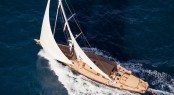 Royal Huisman Pumula Yacht designed by Dykstra Naval Architects - Cory Silken