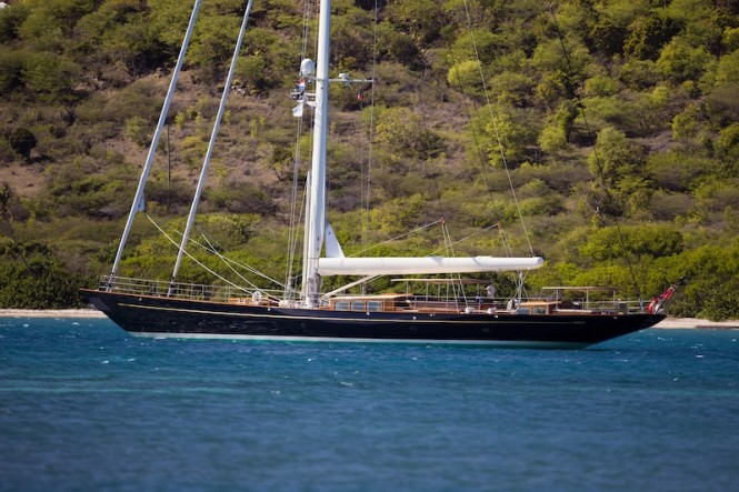 Royal Huisman sailing yacht Pumula - Photo Cory Silken