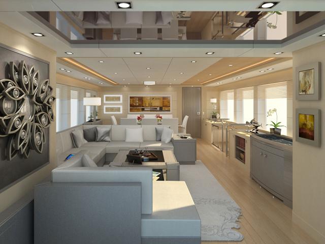 Selene 92 Ocean Explorer Yacht - Saloon