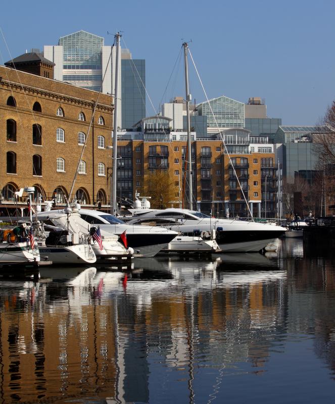 St Katharine Docks in Central London