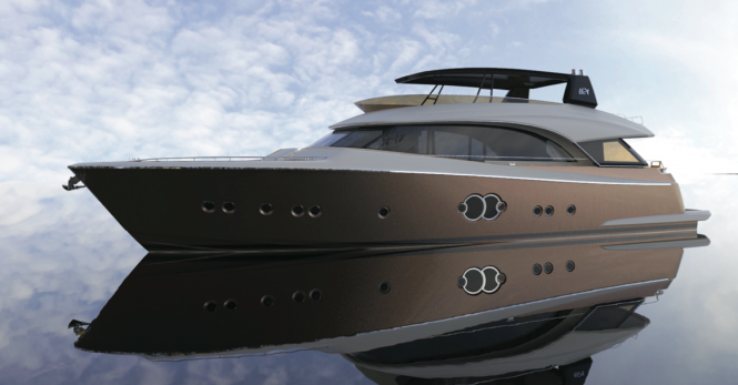 Superyacht MCY 86 - side view
