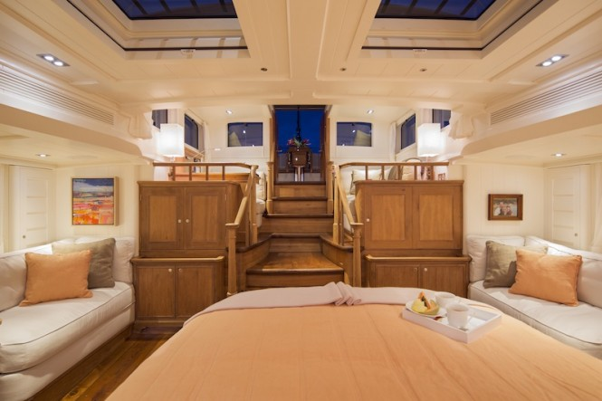 Superyacht Pumula - Owners cabin - Photo by Cory Silken