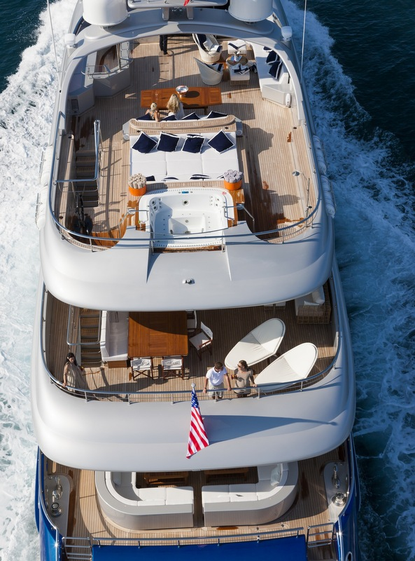 Superyacht Vulcan - Decks