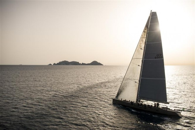 Superyacht Y3K during Race 1 from Gaeta to Capri - Photo by Rolex/Kurt Arrigo