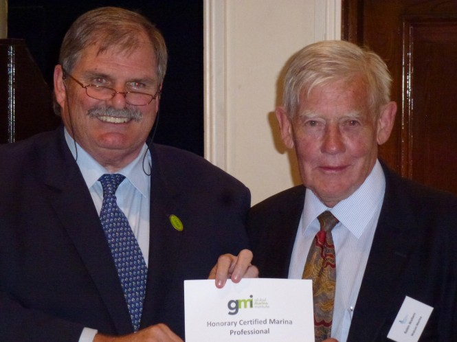 Robin Walters, founder of Walcon Marine, awarded the Honorary Certified Marina Professional in recognition of his dedication and contribution to the industry