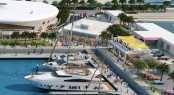 Yas Marina situated in the breath-taking Middle Eastern yacht charter location - Abu Dhabi