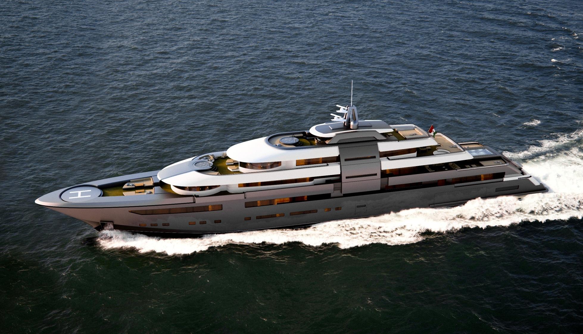 Superyachten concept  ZSYD 90m superyacht concept — Luxury Yacht Charter & Superyacht News