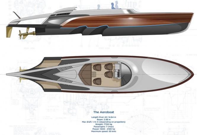 Aeroboat Superyacht Tender - Layout