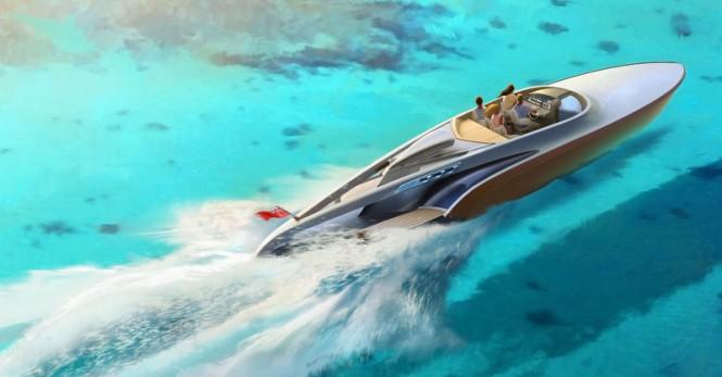 Aeroboat yacht tender - upview