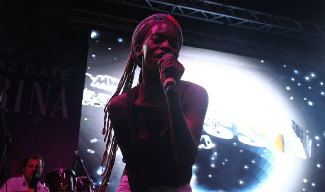 Austrian electro band Makossa and Megablast entertain the guests at the beach club party