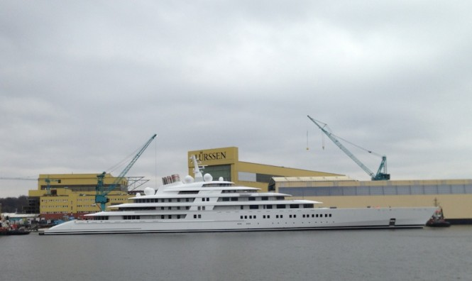 180m Azzam yacht by Lurssen - Photo by Klaus Jordan