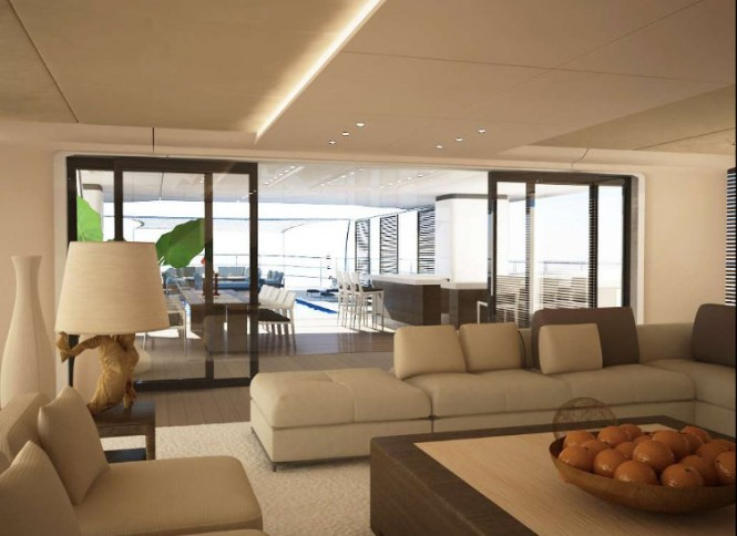 50m motor yacht Project Beach concept - Interior