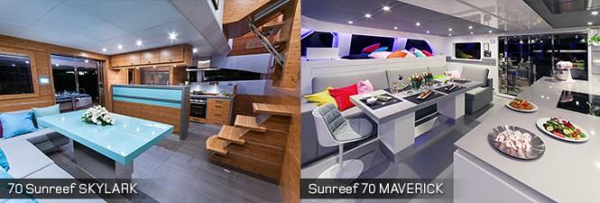 70 Sunreef yacht Skylark and Sunreef 70 yacht Maverick