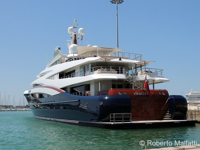 75m charter yacht Anastasia in Italy