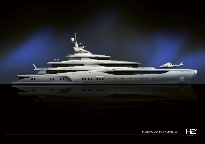 A proposal for a 85-metre Motor Yacht by H2 Yacht Design