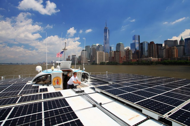 Aboard PlanetSolar reaching New York