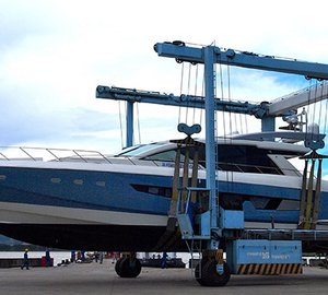 All-new Cheoy Lee motor yacht Alpha 87 leaves her build shed to undergo preliminary sea trials