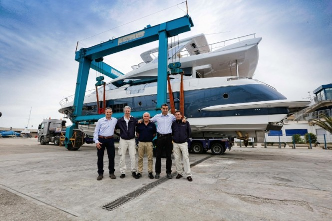 Azimut 80 Yacht at launch