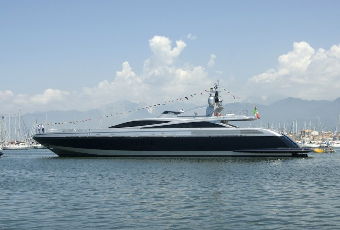 Codecasa 45s Hull F72 superyacht Tenshi (ex Framura 2) by Codecasa Shipyards at launch in 2010