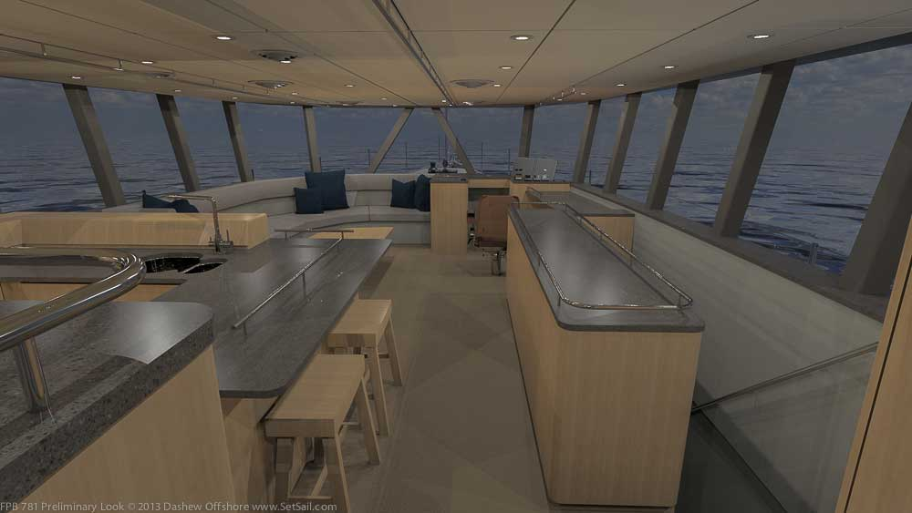 Dashew luxury yacht FPB 78 - Interior