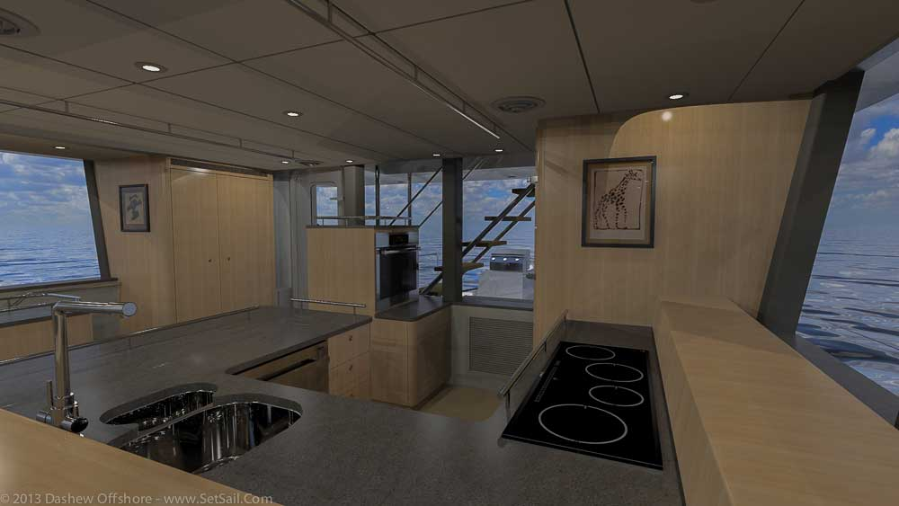 FPB 78 Yacht - Galley