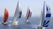 Fleet racing at 2013 Dubois Cup ©Rick Tomlinson/Dubois Yachts