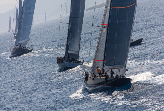 Fleet  - Loro Piana Superyacht Regatta 2013 © Jeff Brown/Superyacht Media