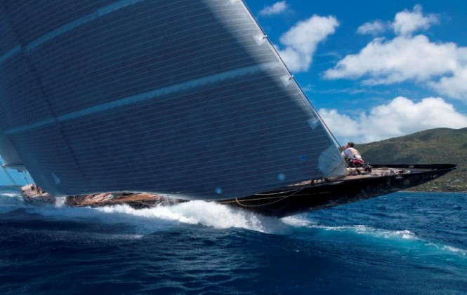 J Class superyacht Hanuman with a Rondal rig