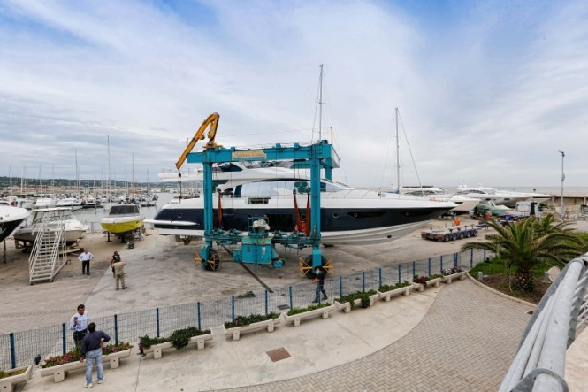 Launch of luxury yacht Azimut 80