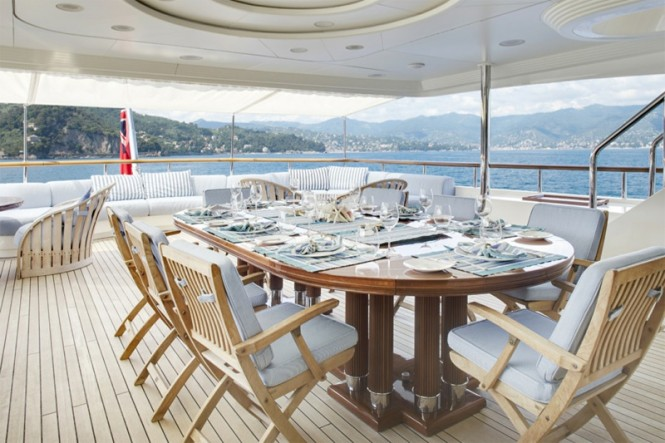 Luxury charter yacht JO - Bridge deck aft