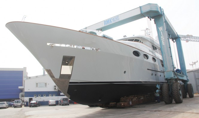 Luxury motor yacht Keyla after refit