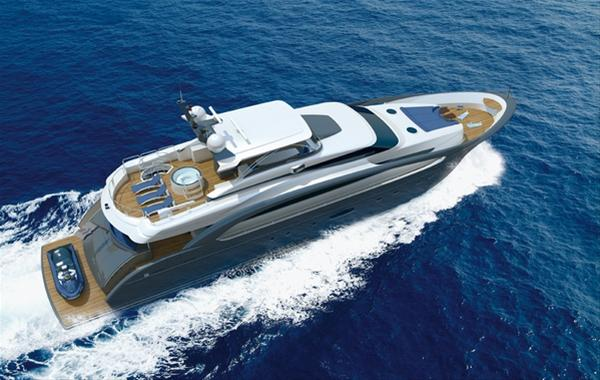 Luxury motor yacht RP110 RPH by Horizon - upview