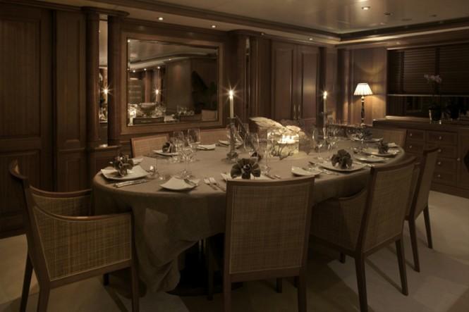 Luxury superyacht JO - Dining