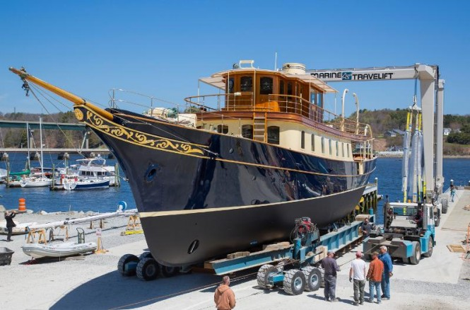 Luxury yacht Atlantide to be re-launched by Front Street Shipyard