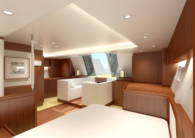 Luxury yacht Swan 105 RS - Aft Cabin looking aft