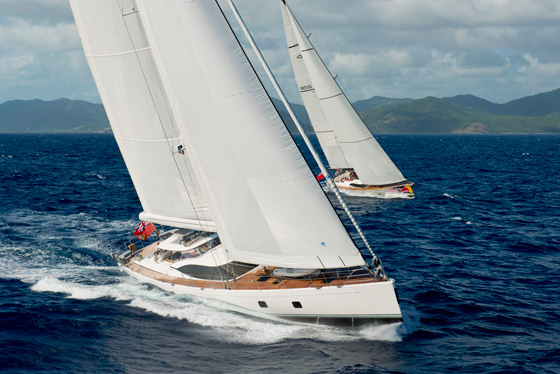 Luxury yachts by Oyster at Loro Piana Superyacht Regatta