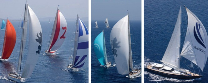 Luxury yachts designed by Dubois competing in the Dubois Cup 2013